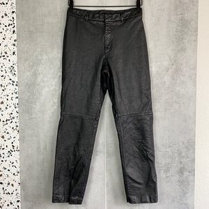 Vintage Nine West black leather pants